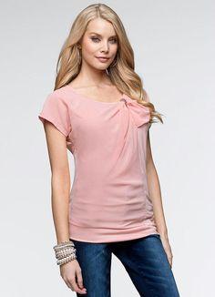 R$49,90 - BonPrix blusa rosa de babado XGG - Posthaus