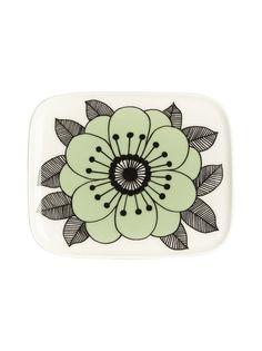 Vihreä Marimekko Kestit-lautanen 15 x 12 cm 067104 Kitchenware, Tableware, Marimekko, Plates, Licence Plates, Dinnerware, Dishes, Griddles, Tablewares