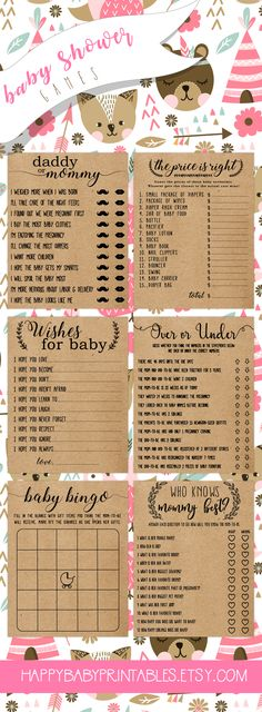 A different take on baby shower games. Love this rustic, modern look. Fits perfect for our theme!  Baby shower games,baby shower,baby shower favors,baby shower ideas,baby shower invitations,ballerina baby shower,baby shower decorations