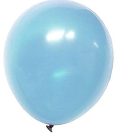 """Custom, Fun & Cool {Big Large Size 12"""" Inch} 16 Bulk Pack of Helium & Air Inflatable Latex Rubber Balloons w/ Modern Design [in Pastel Light Blue] mySimple Products"""