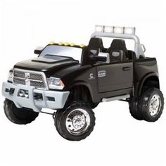 The Ram 3500 Dually from KidTrax Toys is the electric ride-on version of the real-life truck, made for kids ages 3-7.