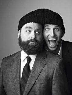 Zach Galifianakis & Bradley Cooper.