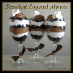 Decadent Layered Mousse #Recipe