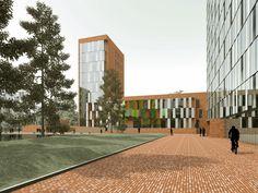 Павелецкая, первая концепция жилого комплекса : Sergey Skuratov Architects