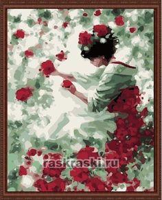 Раскраска по номерам Menglei Фея роз (40х50см, холст)