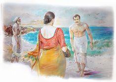 Ravivarma Paintings, Indian Art Paintings, Rajasthani Painting, Indian Women Painting, Sexy Painting, Romance Art, Fantasy Art Women, Hindu Art, Pictures To Draw