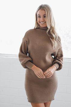 CLARA KNIT DRESS - RUST $69.95