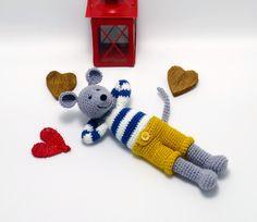 horgolt egérfiú / crochet mouse boy #crochet #amigurumi #mouse #egér #horgolt