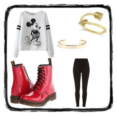 """""""Day Out"""" by nikki5673 ❤ liked on Polyvore featuring River Island, Dr. Martens, Allurez and Tai"""
