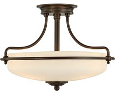 k - $190  Quoizel Griffin Semi-Flush Mount  SKU# GF1717PN  Sugg. Retail: $285.00  You Save: $95.01  Our Price: $63