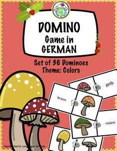 Practice colors in GERMAN class with this set of 36 dominos! Fun game to play in class, as a fast finisher, or centers activity. Pepita's World Languages for Kids, part of Mundo de Pepita Teaching Spanish, Teaching Kids, Learn German, How To Play Dominoes, German Resources, Fast Finishers, World Languages, Language Activities, Activity Centers