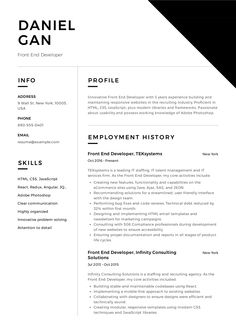 12 Best Front End Developer Resume Examples Images Resume