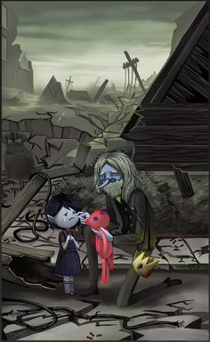 AT - I Remember You by on deviantART Tags: Adventure Time Marceline Abadeer Little Marcy Vampire Queen Ice King Simon Petrikov Hambo Jake Adventure Time, Adventure Time Marceline, Cartoon Network, Pendleton Ward, Adveture Time, Land Of Ooo, Finn The Human, Vampire Queen, Fanart