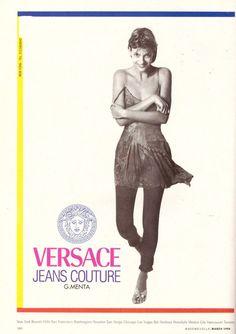 1994 Gianni Versace Linda Evangelista Print Advertisement Ad Vintage VTG 90s | eBay