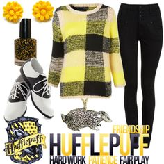 Hufflepuff fashion / should I ever make it to Warner Bros studio in Leavesden, this is what I will wear / Pride / Hogwarts / Harry Potter / Pottermore