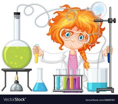 Scientist doing experiment in science lab Free Vector Kid Science, Science Party, Science Classroom, Science Activities, Classroom Decor, Science Labs, Elementary Science, Physical Science, Science Education