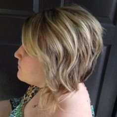 Blonde balayage on short, Kaley Cuoco inspired hair. View more at facebook.com/designedbyannie