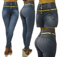 Sexiest pair of jeans you will ever wear! Medium Blue high waist belted skinny jean.  Made in Colombia. Colombian buttlifting jeans available in different styles and sizes visit our website at www.shopdressworld.com . 100% Levanta Cola. FREE SHIPPING ON ALL ITEMS #levantacola #colombianjeans #fashion #bootylifters #InstaFashion #InstaGood #Fashion #Follow #Style #Stylish #Fashionista #FashionJunkie #FashionAddict #FashionDiaries #FashionStudy #FashionStylist #FashionBlogger #freeshipping
