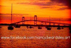 Sunset photo by www.Facebook.com/Nancy.Beardsley.Art