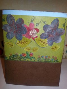 Walk in the Garden Card. Visit my store! http://www.dlwatercolors.weebly.com to see more pictures of this card and more!