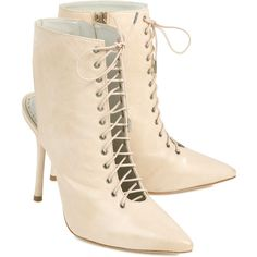 alice and olivia Dominica Pointed Leather Boots ($605) ❤ liked on Polyvore