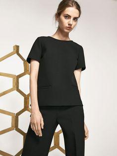 BLACK TOP de WOMEN - Shirts & Blouses de Massimo Dutti de Otoño Invierno 2016 por 59.95. ¡Elegancia natural!