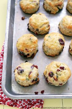 Cranberry Christmas Biscuits