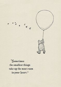 Sometimes the smallest things take up the most room in your heart- Pooh Quotes c. - Sometimes the smallest things take up the most room in your heart- Pooh Quotes classic vintage style poster print – Jessica Korosec – Source by Winterfrostfire - Motivacional Quotes, Cute Quotes, Book Quotes, Words Quotes, Style Quotes, Cute Disney Quotes, People Quotes, Qoutes, Tattoo Quotes