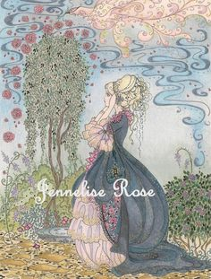 Blue Fairytale - 5 x 6 1/2 Art Print. $10.00, via Etsy. Jennelise Rose