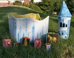 This is an amazing hand made castle for your kids to play.. Download the pdf tutorial on whipstitchfabrics.com