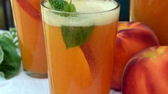 Celebrate National Peach Month with this great Sparkling Peach Punch!