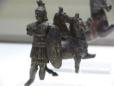 """Roman bronze statuette of a """"centurion"""" or rather a higher ranking other officer."""