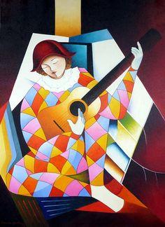 Arlequim Musico (80 x 60) Damião Martins