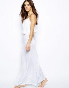White Maxi Beach Dress For Sale