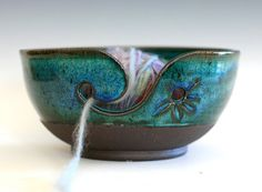 Yarn Bowl, handmade stoneware pottery,handmade ceramic yarn bowl