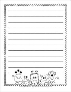 Blank Monster Writing Page
