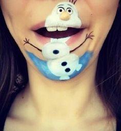 Frozen face paint idea I found on an app