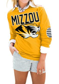 Gameday Couture Mizzou Tigers Womens  Gold T-Shirt