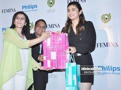 Alia Bhatt Hot  In Black Launches Femina Magazine Coverpage