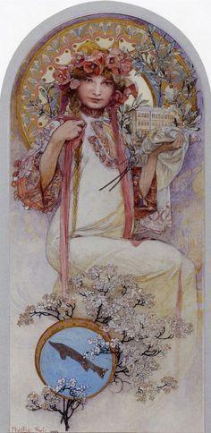 The Girl of Ivancice by Alphonse Mucha