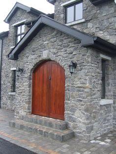Stone facing and stone cladding Ireland, Century Stone Ireland - Stone Cladding (Exteriors) Stone Cladding Exterior, Stone Exterior Houses, Outside Stairs, Eldorado Stone, Stone Cottages, Manufactured Stone, Wall Cladding, Cladding Ideas, Stone Veneer