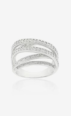 Dear future husband, please take note that this would be a great wedding present! Silver Diamond Layered Ring.