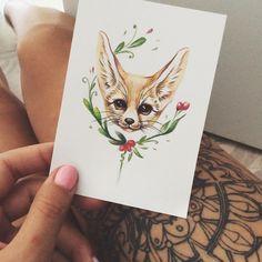 Fox tattoo on sketch (on paper) by Alena Starikova Tattoo Sketches, Tattoo Drawings, Pencil Drawings, Art Drawings, Fox Sketch, Totem Tattoo, Fox Drawing, Fennec Fox, 1 Tattoo
