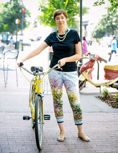 Street Style in Savannah, Georgia. #fashion #scad #yellow