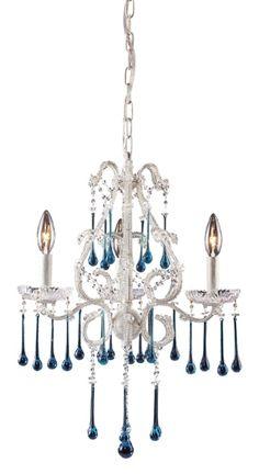 3 Light Chandelier in Antique White - Opulence Collection - http://chandelierspot.com/3-light-chandelier-in-antique-white-opulence-collection-545314851/