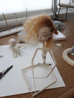 work in process - Art Dolls by Katya Tal