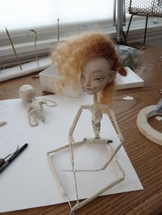 work in process - Art Dolls by Katya Tal