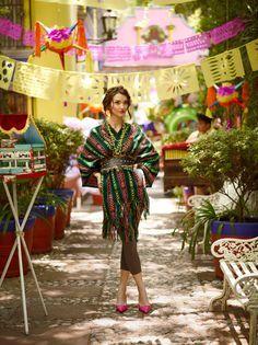 Fiestas Patrias by Jean Bérard, via Behance Mexican Fashion, Mexican Outfit, Mexican Dresses, Mexican Style, Mexican Party, Mexican Fabric, Fiesta Outfit, Diy Fashion, Fashion Trends