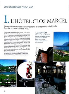 Press Book | Hôtel Clos Marcel- Annecy-France