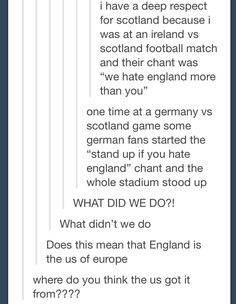 This might be the funniest thing I've ever seen on Tumblr . . . God bless the Scottish . . .